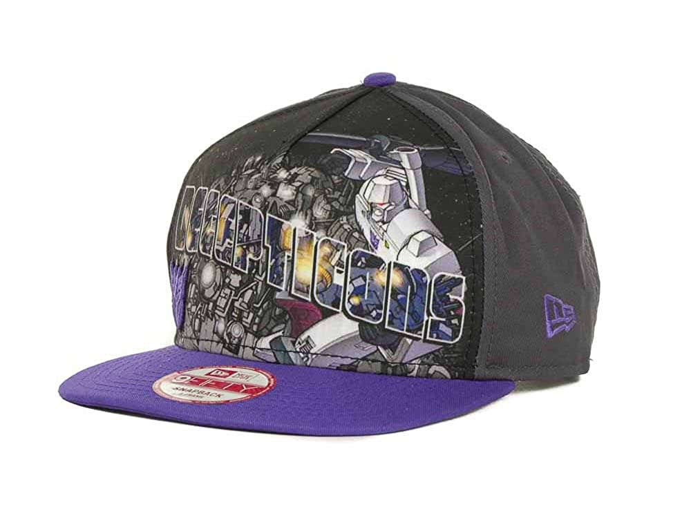 7ffb74552063a Marvel Transformers Men s Decepticons Hero Post New Era 9FIFTY Snapback Hat  Cap - Black Purple at Amazon Men s Clothing store