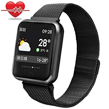 Fitness Tracker Pulsera,Miya Bluetooth Smartwatch Impermeable Reloj Inteligente Fitness Tracker con Monitor de Sueño, Podómetros, Cronómetros,Notificación ...