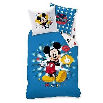 Micky Maus Kinder Bettwäsche Mickey Mouse Sport Fußball Wende