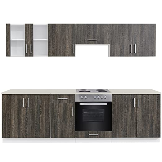 Anself unidad de armario de cocina completa con integrado placa ...