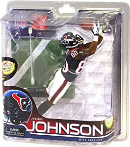 McFarlane Toys NFL Sports Picks Series 28 Action Figure Andre Johnson (Houston Texans) Blue Jersey Bronze Collector Level Chase