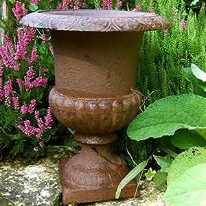 Antikas - maceta para plantas de hierro fundido - ánfora frances - maceta para jardín - cubo plantas - macetero grande - maceta M - decoración de jardín: Amazon.es: Jardín