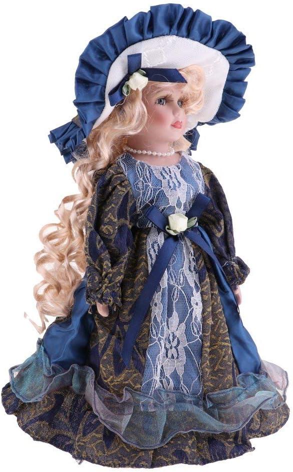 HTYG Muñecas Antiguas de Porcelana de 30 cm-miniaturas de Madame Victoriana con Bata-Ropa de muñeca de Porcelana Coleccionable, Juguete para Regalo de niños