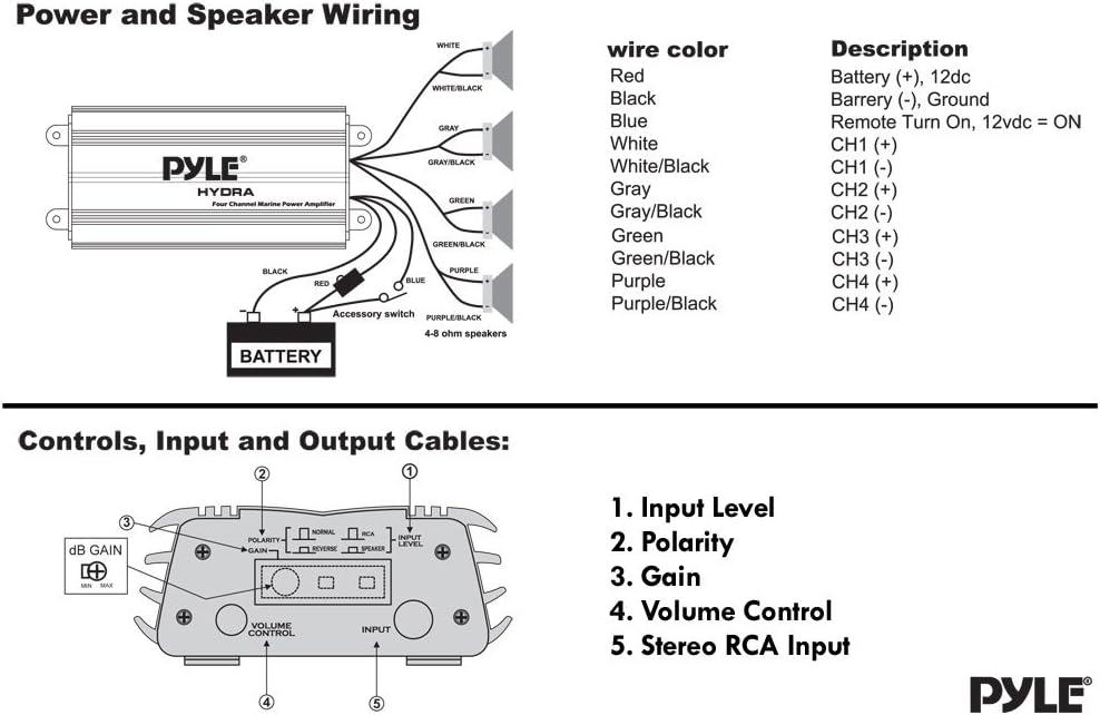 NEW Pyle PLMRKT4A 800W 4Ch Marine iPod//MP3 AMP 4x 6.5/'/' Speakers /& iPod Bag