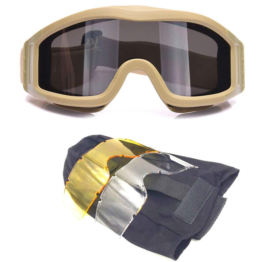 Antivento Giallo Occhialini di Sicurezza per Paintball e Softair LLAni