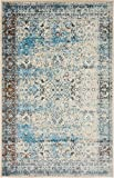 Luxury Modern Vintage Inspired Overdyed Area Rugs Blue 5' x 8' FT Artis Designer Rug Colorful Craft Rugs and Carpet