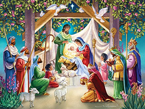 Vermont Christmas Company Magi at the Manger Jigsaw Puzzle 550 Piece