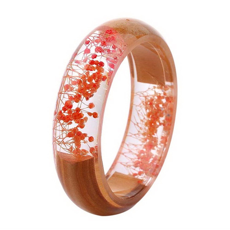 Loweryeah Transparent Resin Crafts Ab Resin Glue Mantianxing Flower Flower Bracelet Handmade Wood Bracelet