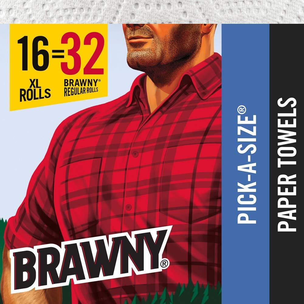 Brawny Paper Towels, 16 XL Rolls, Pick-A-Size, White, 16 = 32 Regular Rolls by Brawny (Image #6)