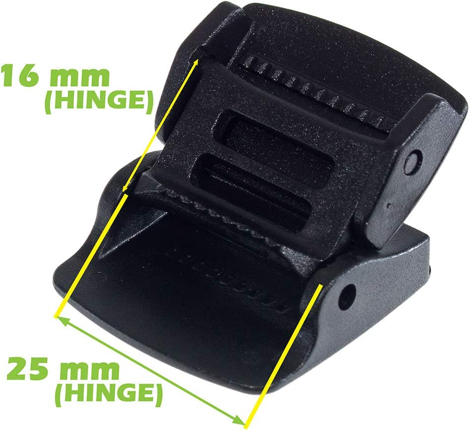 and More Outdoor Recreation 5 Pack Storage Black Plastic 1 Inch Web Strap Cam Lock Buckles Crafting Tactical Gear