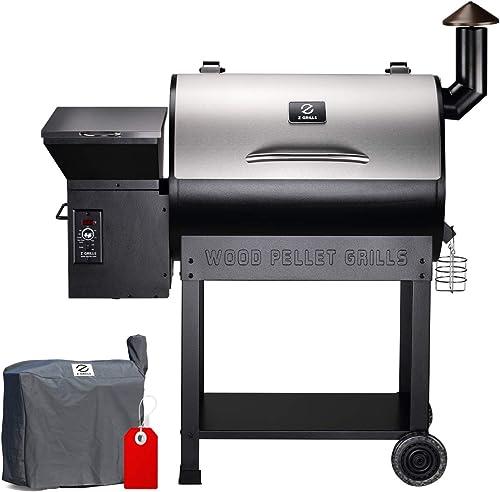 Z-GRILLS-ZPG-7002E-2020-Upgrade-Wood-Pellet-Grill-&-Smoker