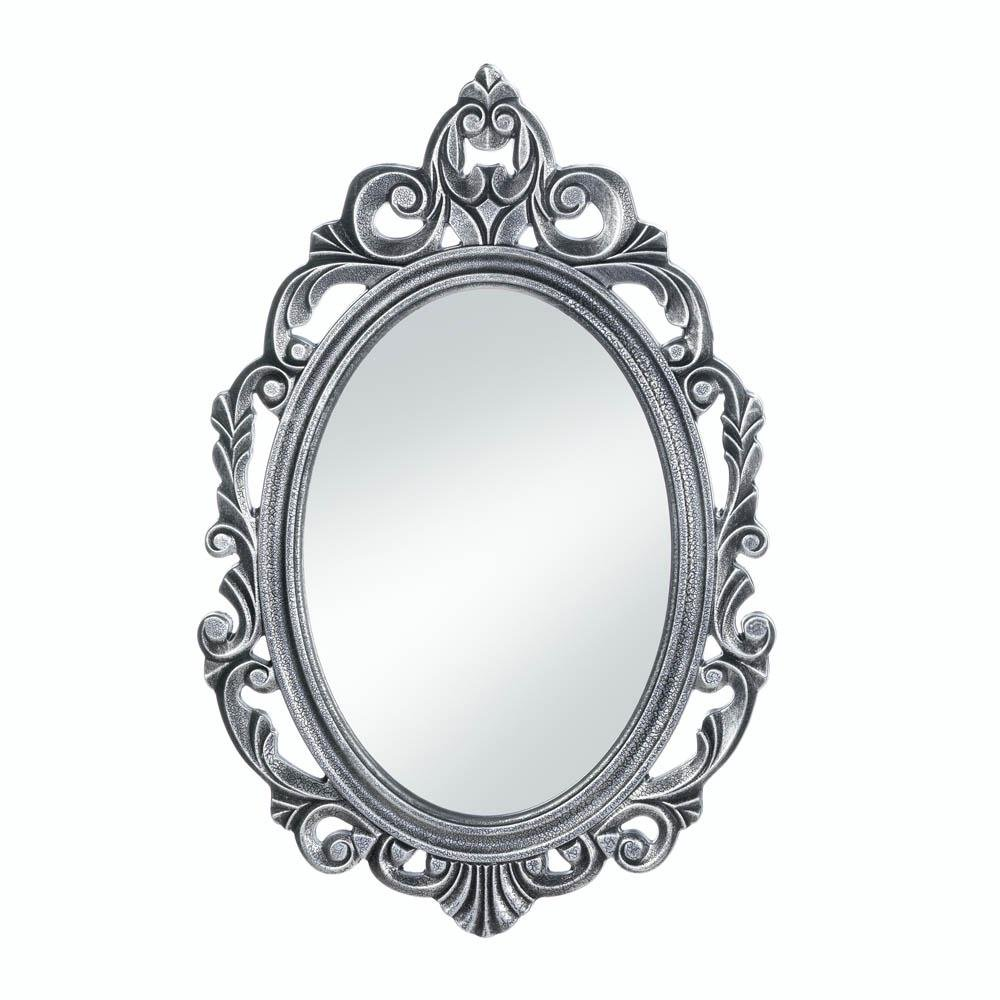 Wall Mirrors, Antique Mirrors for Wall Decor, Silver Royal Crown Wall Mirror