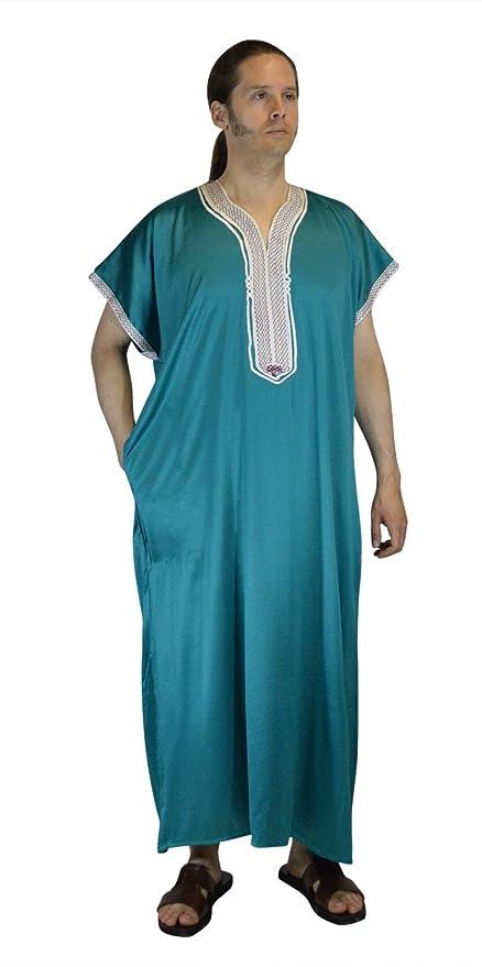 61041022c9b3b5 Amazon.com  Moroccan Men Dress Jellaba Djellaba Light green with Embroidery  Tread  Everything Else