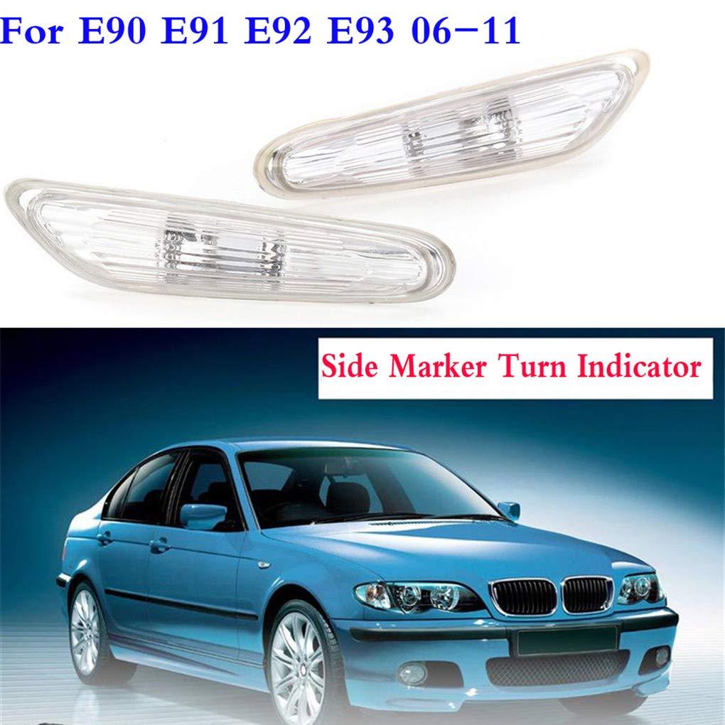 Babysbreath17 1 Paire de Remplacement pour BMW E90 E91 E92 E93 2006-2011 Gauche et c/ôt/é Droit marqueur Clignotants Blanc Objectif