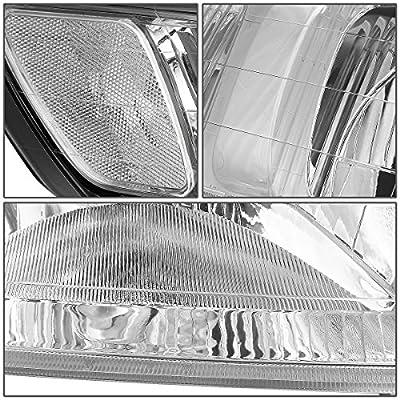 DNA Motoring Chrome clear HL-OH-047-CH-CL1 Headlight Assembly [99-04 Honda Odyssey]: Automotive