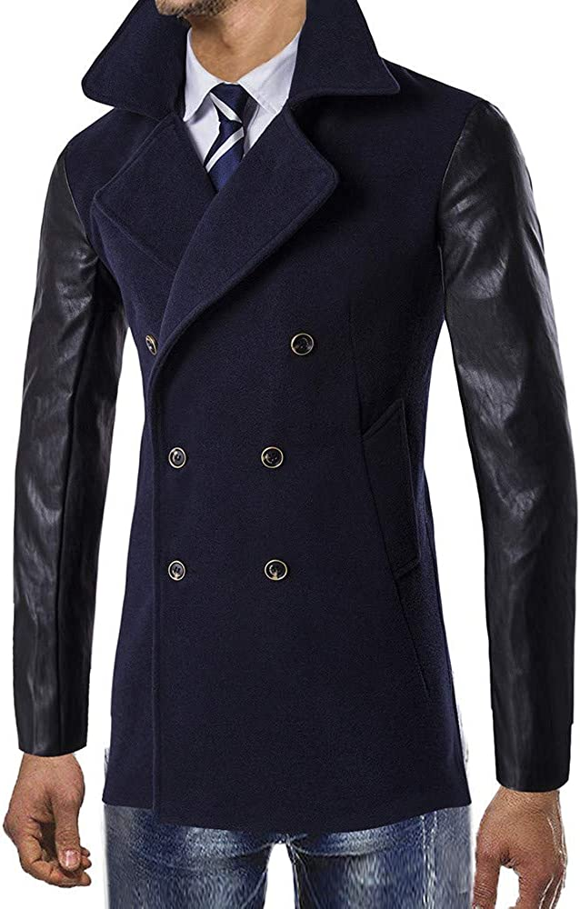 YKARITIANNA Mens Down /& Down Alternative Solid Shells Jackets Outdoor Soft Outfits Warm Winter Trench Button Smart Overcoat