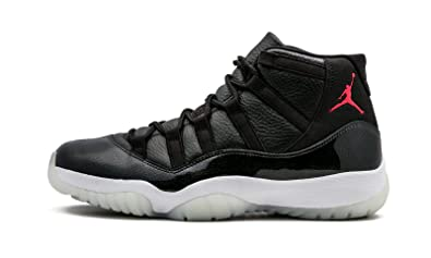 Nike Mens Air Jordan 11 Retro 72/10\u0026quot; Black/Gym Red-White