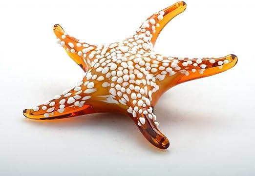 "New 16/"" Hand Blown Art Glass Fused Sculpture Figurine Amber Decorative"