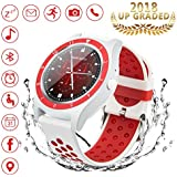 Bluetooth Smart Watch, iFunTec Touch Screen Smart Wrist Watch with Camera Water-Resistant Fitness Tracker w/Pedometer Sports Smartwatch w/Phone Sim Card Slot for Android iPhone Samsung Men Women Kids