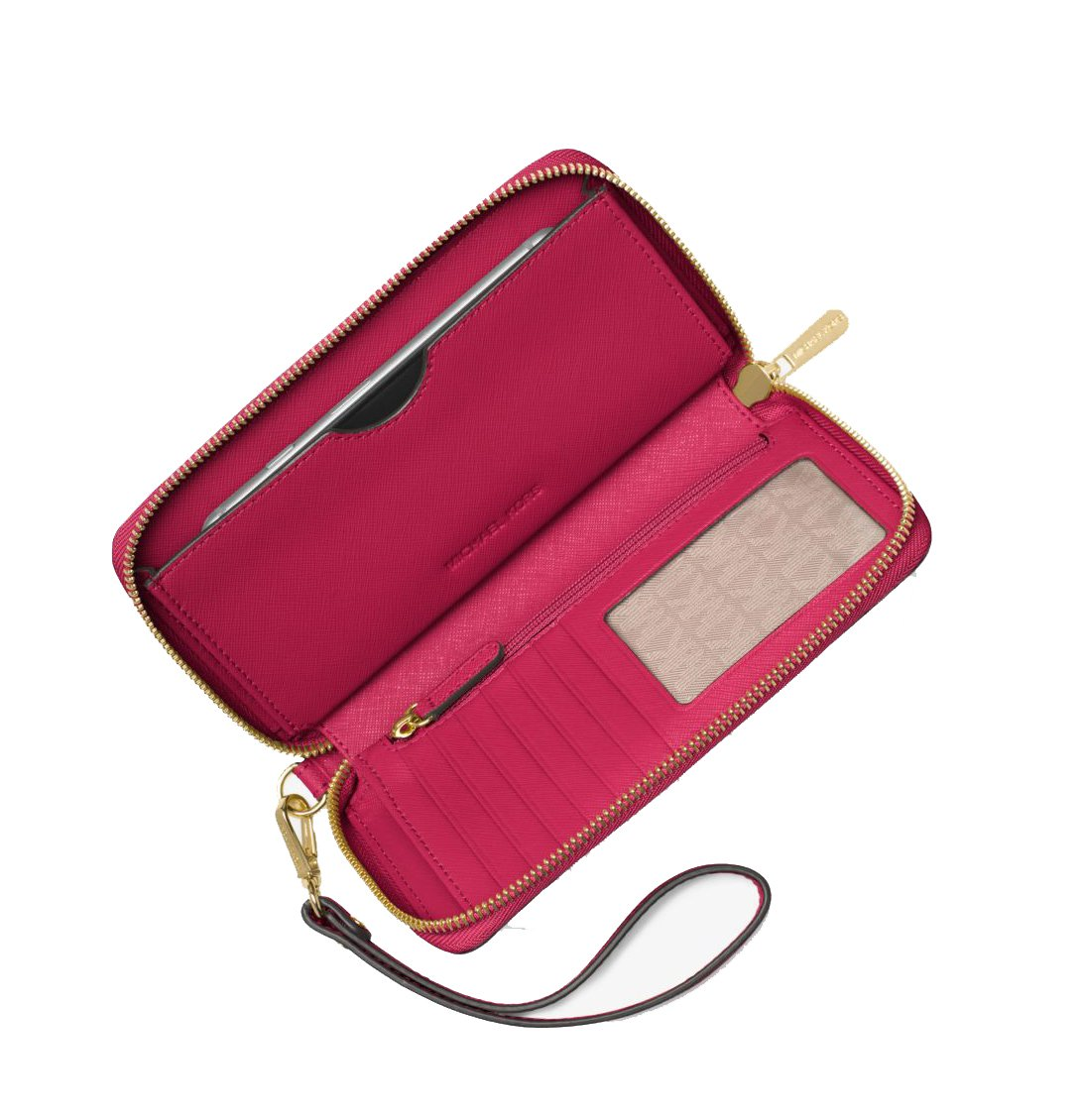 Michael Kors Women's Jet Set Travel Large Smartphone Wristlet (Cranberry) by Michael Kors (Image #2)