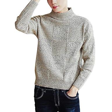 afe99e1459bf5a Amazon   ニット セーター メンズ 長袖 ハイネック タートルネック おしゃれ シンプル あったか 暖かい カジュアル 防寒 日系    セーター 通販
