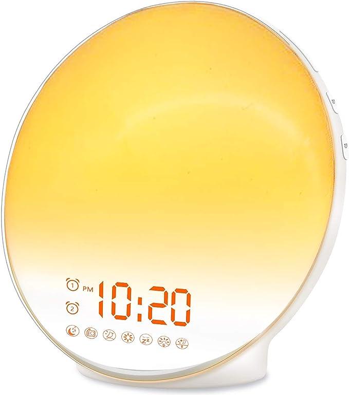 Wake Up Light - Sunrise Alarm Clock for Heavy Sleepers