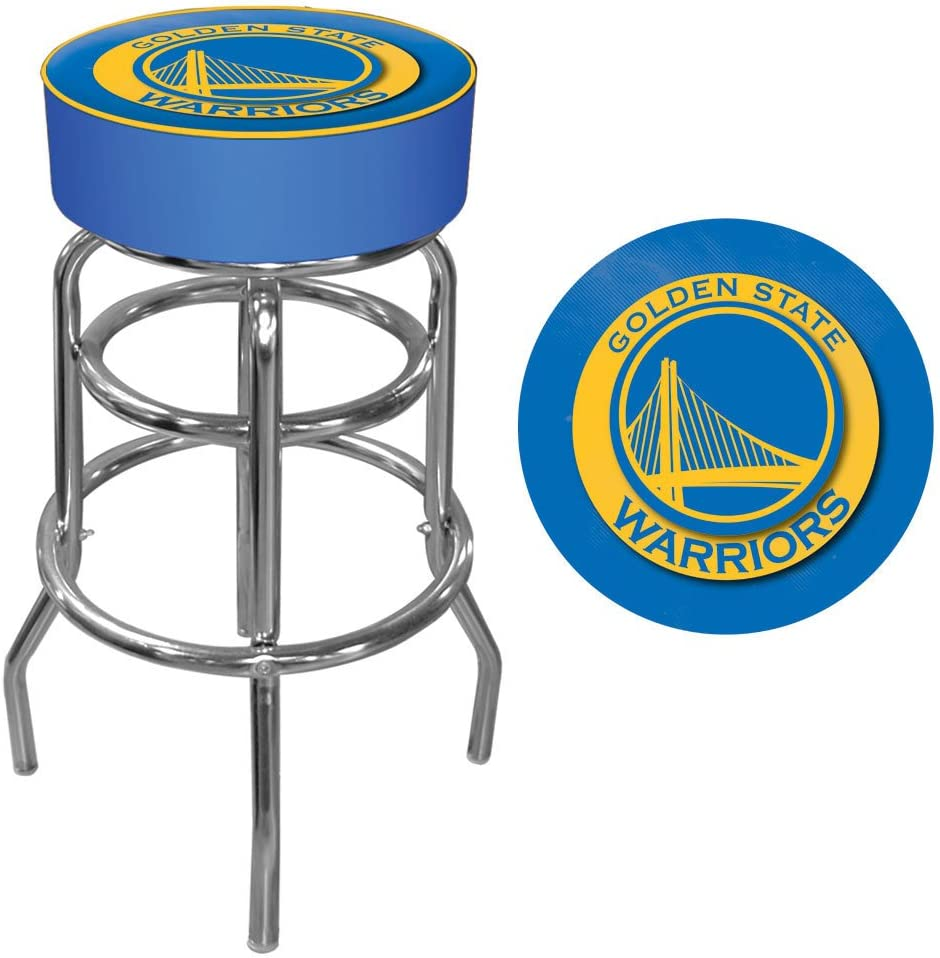 NBA Golden State Warriors Padded Swivel Bar Stool