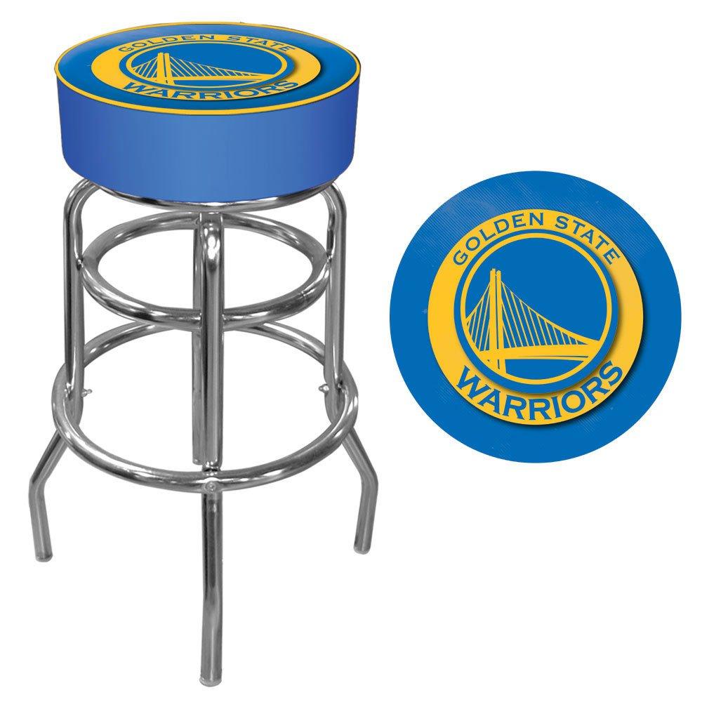 Trademark Gameroom NBA Golden State Warriors Padded Swivel Bar Stool