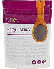 Kiva Organic Maqui Berry Powder - Non-GMO, Raw, Vegan, 4-Ounce Pouch