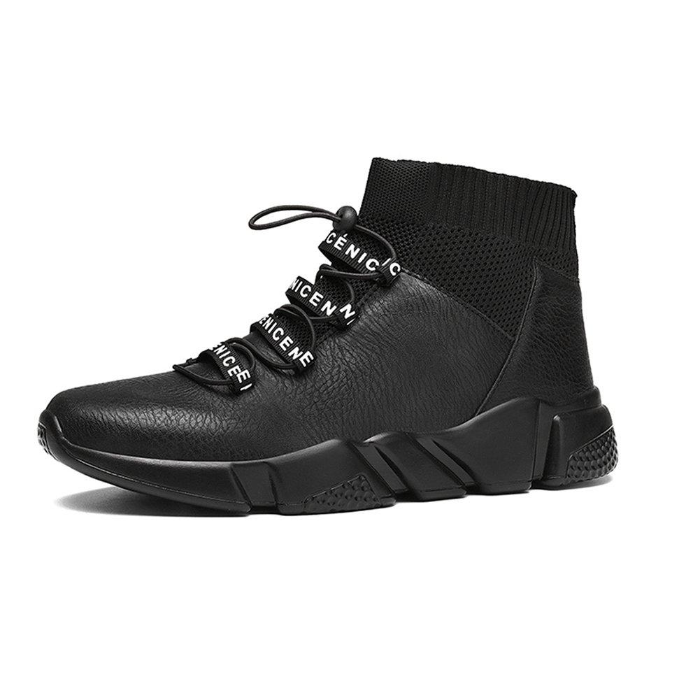 YIXINY Deporte Zapato LAB-1897Zapatillas De Deporte Hombre Zapatillas De Baloncesto Botas De Nieve Exterior Viaje Botas Cortas Antideslizante,Negro ( Tamaño : EU43/UK9/CN44 ) EU43/UK9/CN44