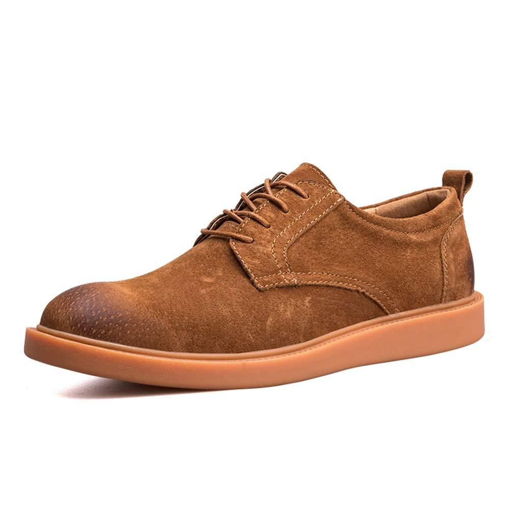 Scarpe da Uomo in Pelle Oxford Casual Scarpe comode e semplici con Punta rossoonda e Punta rossoonda Scarpe da Cricket