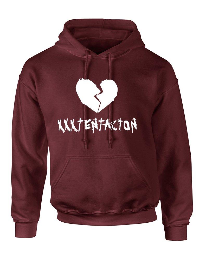 Allntrends Adult Hoodie Xxxtentacion Trendy Top Hot Cool Rap Sweatshirt (S, Maroon)