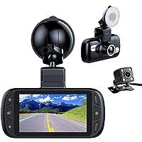 """EACHPAI GPS Cámara De Coche, Full HD 1080P Dash CAM Delantero y Trasero,150° Pantalla 3"""" LCD Camara Coche Grabadora,G…"""