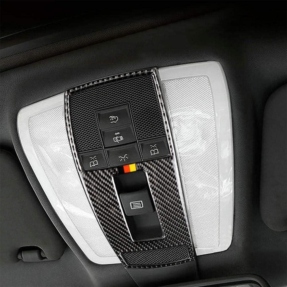Luz de Lectura de Autom/óvil de Fibra de Carbono Cubierta del Panel de Control Ajuste del Marco de Ajuste para W212 W204 GLK CLS Ajuste de Luz de Lectura