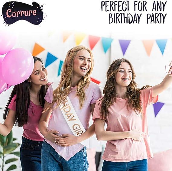 Banda de cumpleaños para niña, Blanco-oro rosa: Amazon.es: Salud y ...