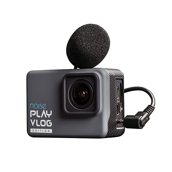 Noise Play Vlog 16MP 4K WiFi EIS Long Battery Waterproof Sports and Action Camera with External mic Support with Accessories Action Cameras
