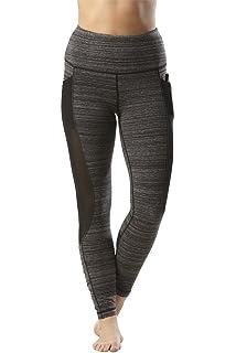 6631bb4d19 Yogalicious High Waist Mesh Leggings with Phone Pocket - Tummy Control Yoga  Pants
