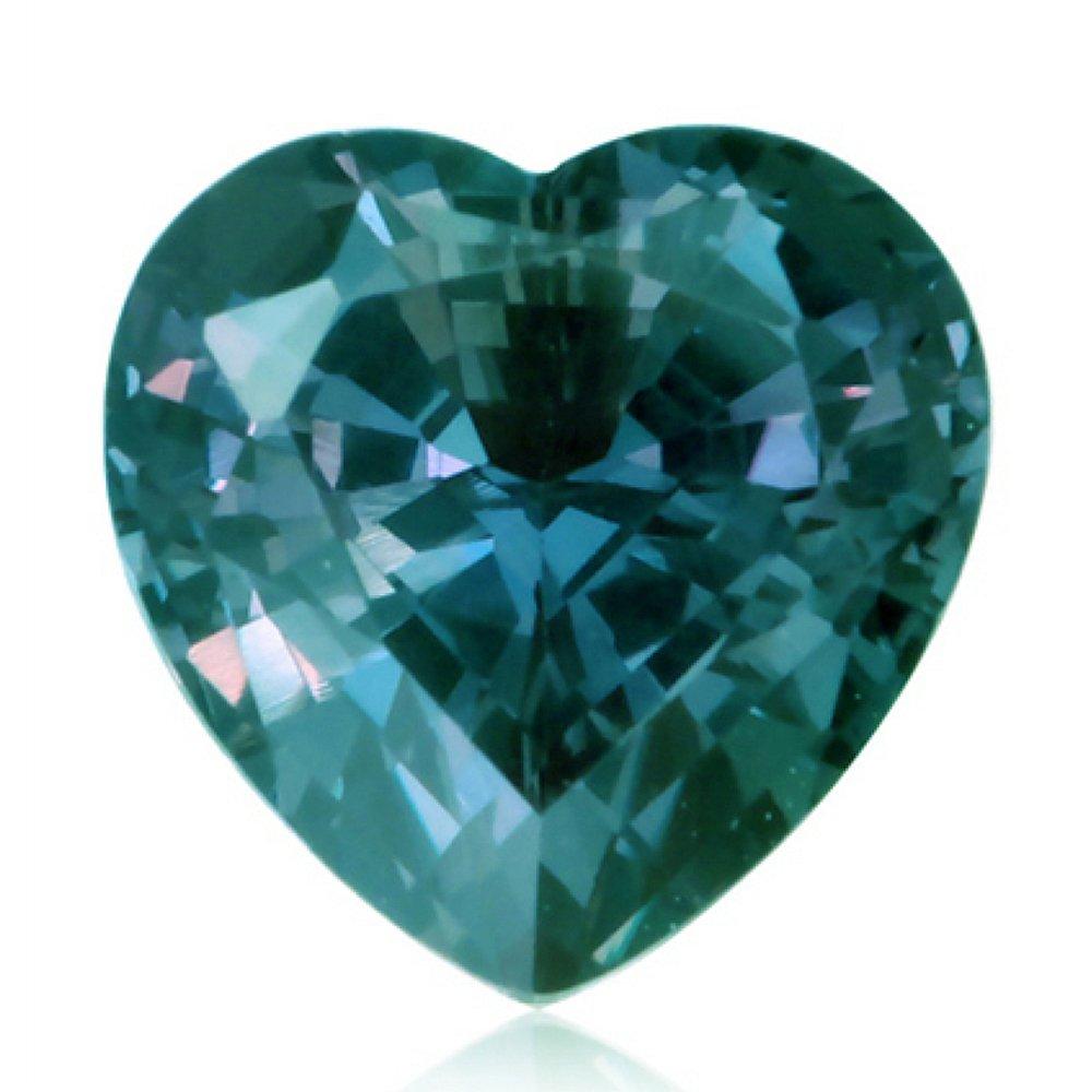 1ce0728603b9c 1-1.25 Cts of 6 mm AAA Heart Lab created Russian alexandrite ( 1 pc ) Loose  Gemstone