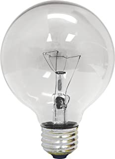 Etonnant GE 12983 4 25 Watt Globe G25 Light Bulb, Crystal Clear, 4