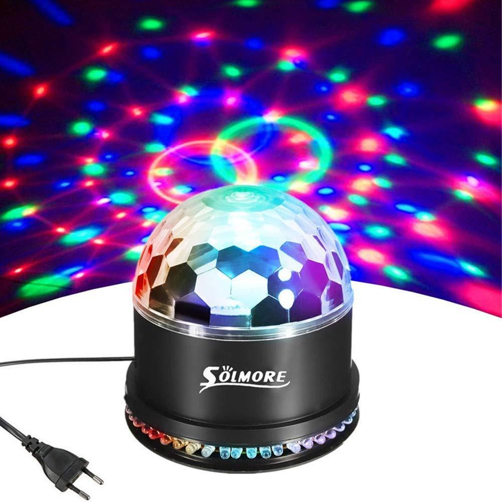 SOLMORE Lampe de Scène à Télécommande Lecteur de Musique 9 Couleurs 5 Modes Jeux de Lumière Projecteur à Effet Eclairage Disco Lumière DJ Boule Magique Déco Soirée Anniversaire Fête Mariage (Boule Disco RGB 51 LED) product image