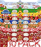 Holiday 3D Glasses 10 Pack - With 3DHeaven Exclusive Styles HOLIDAY TREATS and HOLIDAY TRAINS – 10 Different!