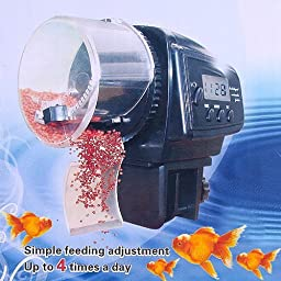 eBoTrade New Version Aquarium Automatic Fish Food Tank Feeder Timer with Battery