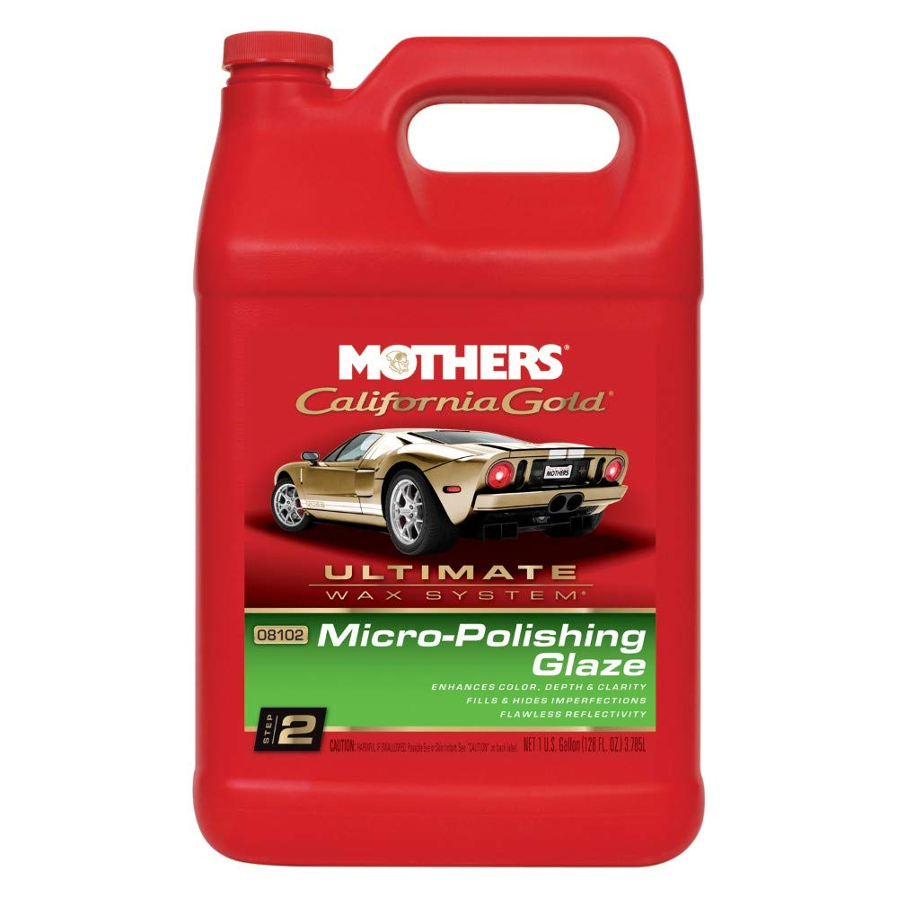 Mothers 08102 California Gold Micro-Polishing Glaze (Ultimate Wax System, Step 2) - 1 Gallon