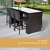 Cheap Bar Table Set With Barstools 7 Piece Outdoor Wicker Patio Furniture