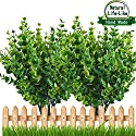 Artificial Plant Eucalyptus Leave Outdoor Shrubs Plastic Fake Bushes Window Box Greenery for Home Indoor Garden Light Green UV Resistant Verandah Office Wedding Decor Wholesale - 4 PCS