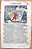 Antique Copperplate Miniature Engraving: BL9 from