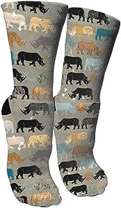 Packsjap Rhino Seamless Model (2) Graduated Compression Socks for Unisex - Best Medical, Nursing,Running & Fitness Crew Socks