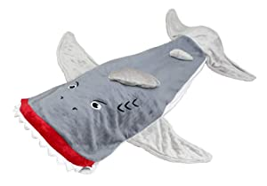 Lovely Pumpkins Shark Tail Blanket for Kids | Shark Sleeping Bag from Exciting Fun and Durability Guaranteed (3-8, Gray)