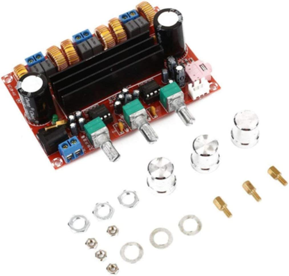 50W Aiyima TPA3116 2.1 Amplificateur Audio num/érique Haut-Parleur Subwoofer Amplificateurs TPA3116d2 DC12V 24V 2 100W