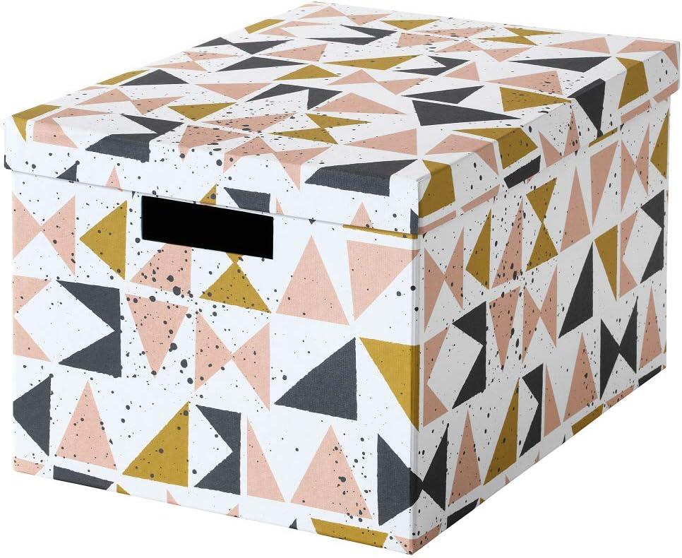 cajas triangulos rosas grises amarillos ikea
